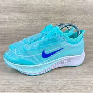 Nike Air Zoom Fly 3 Blue Vaporweave Running Shoes